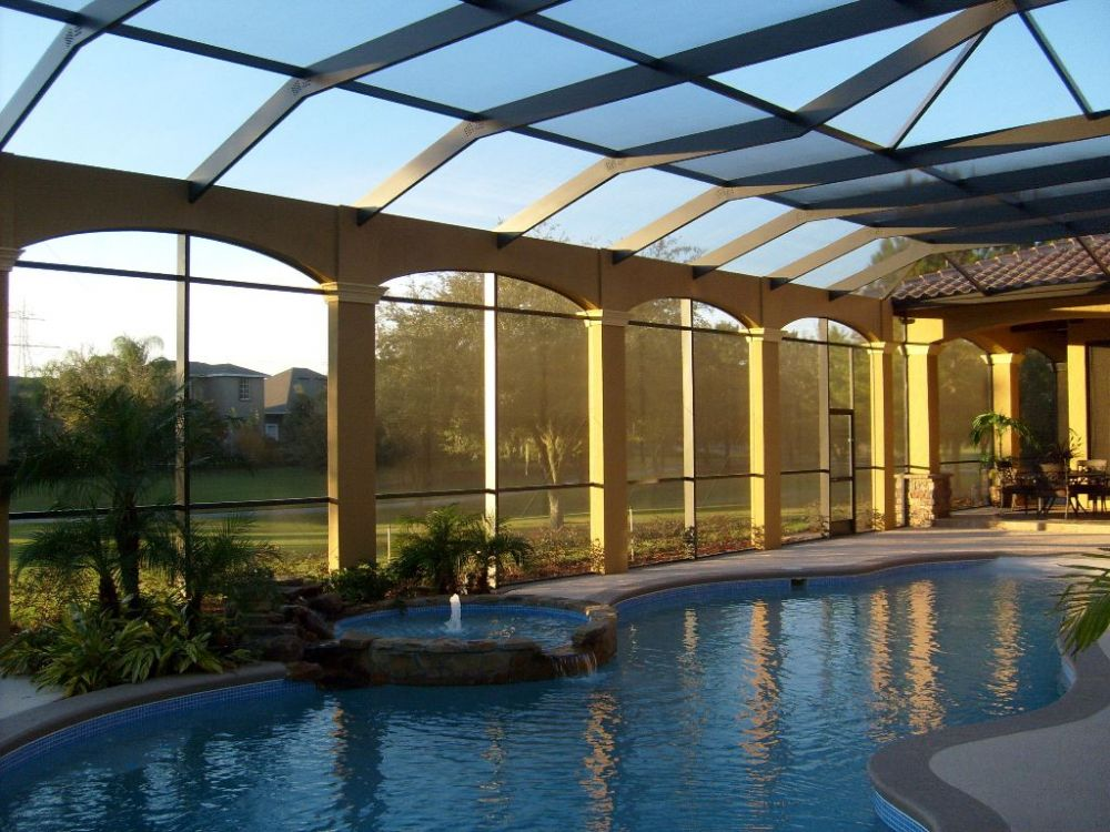 Swimming pool privacy screens quotes for Pool screen privacy